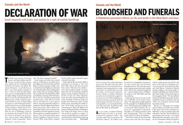 Article Preview: DECLARATION OF WAR, December 2001 | Maclean's
