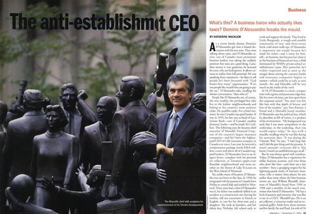 Article Preview: The anti-establishment CEO, December 2001 | Maclean's