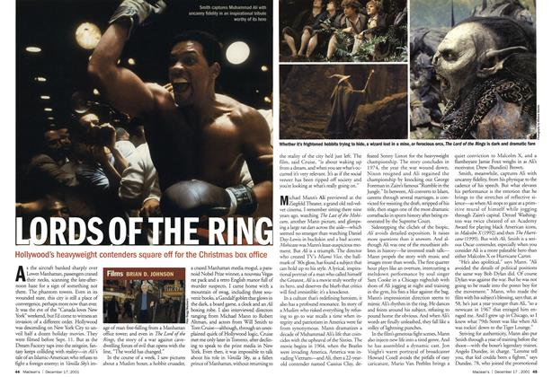 Article Preview: LORDS OF THE RING, December 2001 | Maclean's