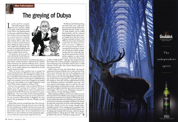 Article Preview: The greying of Dubya, December 2001 | Maclean's