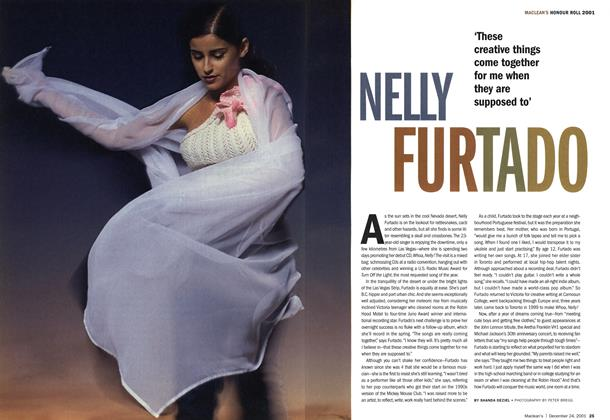 Article Preview: NELLY FURTADO, December 2001 | Maclean's