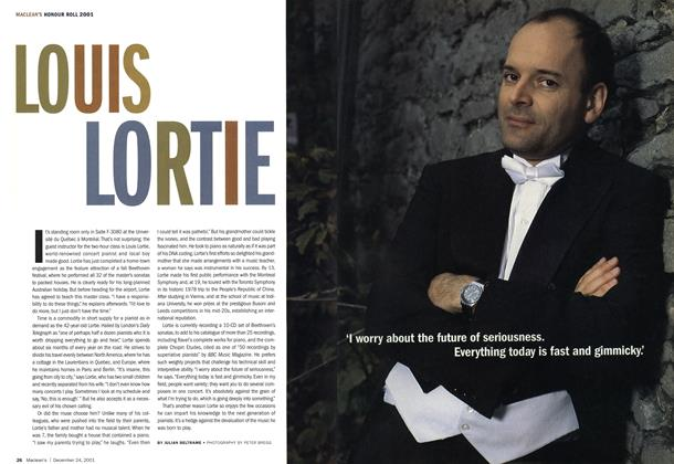 Article Preview: LOUIS LORTIE, December 2001 | Maclean's