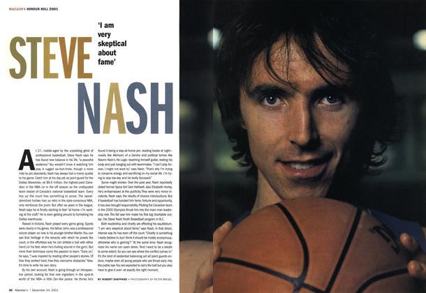Article Preview: STEVE NASH, December 2001 | Maclean's