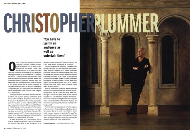 Article Preview: CHRISTOPHER PLUMMER, December 2001 | Maclean's