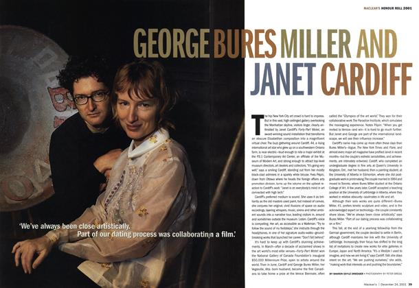 Article Preview: GEORGE BURES MILLER AND JANET CARDIFF, December 2001 | Maclean's