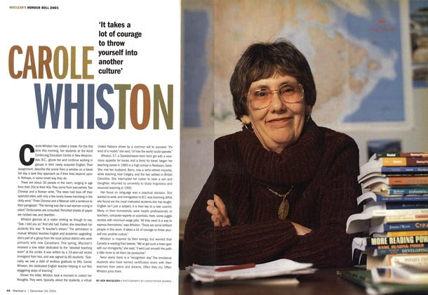 Article Preview: CAROLE WHISTON, December 2001 | Maclean's