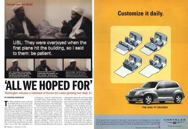 Article Preview: 'ALL WE HOPED FOR', December 2001 | Maclean's
