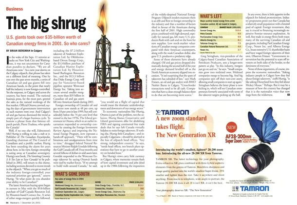 Article Preview: The big shrug, December 2001 | Maclean's