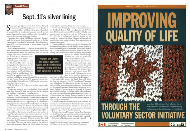 Article Preview: Sept. 11's silver lining, December 2001 | Maclean's