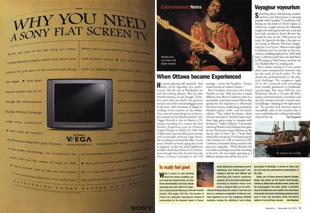 Article Preview: Voyageur voyeurism, December 2001 | Maclean's