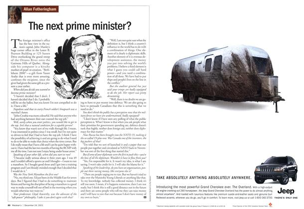Article Preview: The next prime minister?, December 2001 | Maclean's