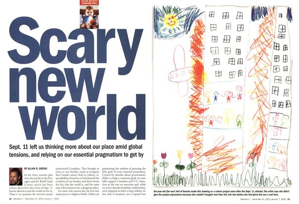 Article Preview: Scary new world, December 2001 | Maclean's