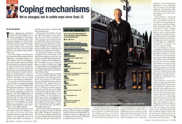 Article Preview: Coping mechanisms, December 2001 | Maclean's