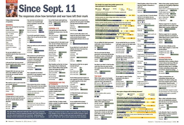 Article Preview: Since Sept. 11, December 2001   Maclean's