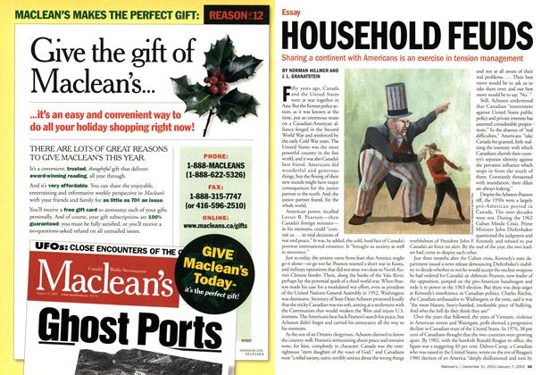 Article Preview: HOUSEHOLD FEUDS, December 2001 | Maclean's