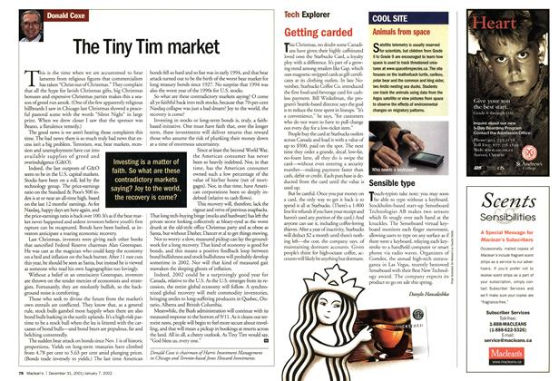 Article Preview: The Tiny Tim market, December 2001 | Maclean's