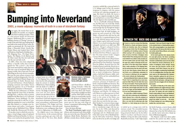 Article Preview: Bumping into Neverland, December 2001 | Maclean's