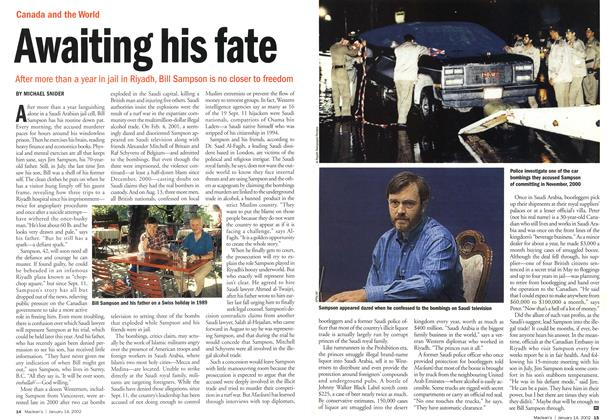 Article Preview: Awaiting his fate, January 2002 | Maclean's