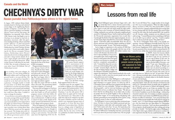 Article Preview: Lessons from real life, January 2002 | Maclean's