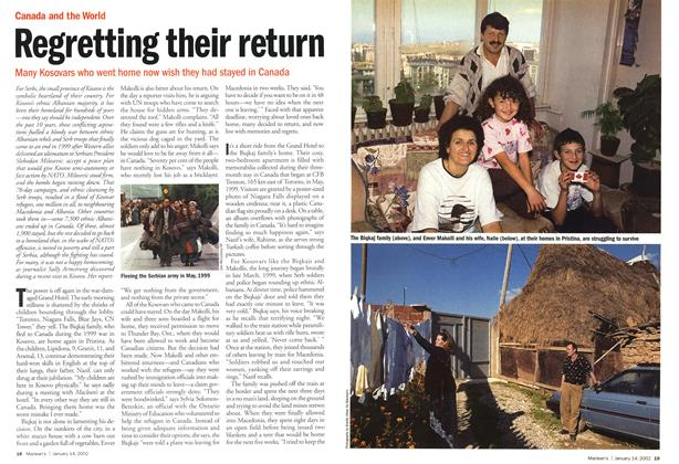 Article Preview: Regretting their return, January 2002 | Maclean's