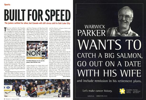 Article Preview: BUILT FOR SPEED, January 2002 | Maclean's