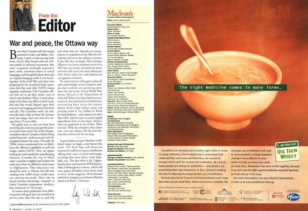 Article Preview: From the Editor, January 2002 | Maclean's