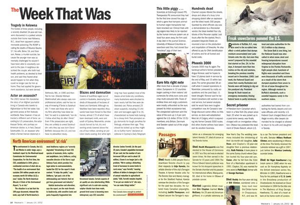 Article Preview: The Week That Was, January 2002 | Maclean's