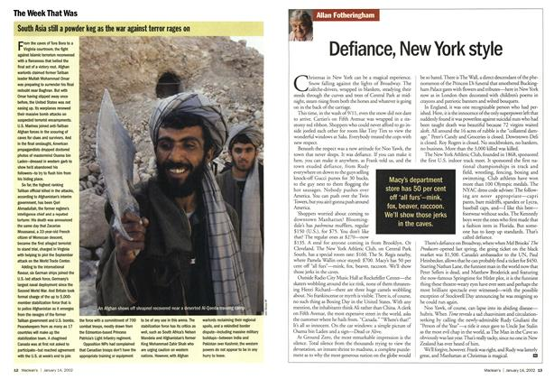 Article Preview: Defiance, New York style, January 2002 | Maclean's