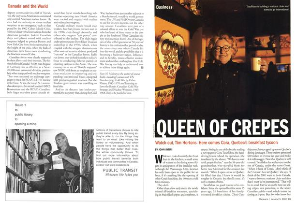 Article Preview: QUEEN OF CREPES, January 2002 | Maclean's