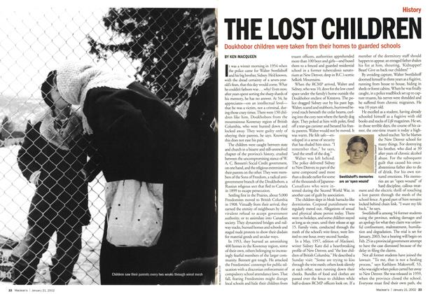 Article Preview: THE LOST CHILDREN, January 2002 | Maclean's