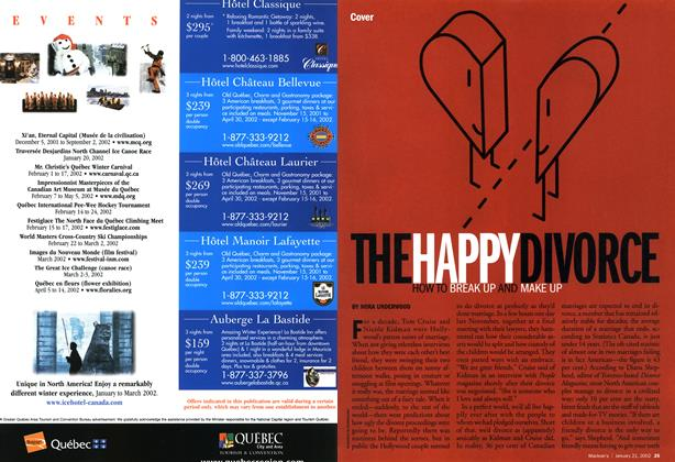 Article Preview: THE HAPPY DIVORCE HOW BREAK UP AND MAKE UP, January 2002 | Maclean's