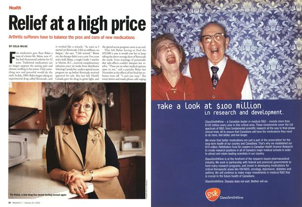 Article Preview: Relief at a high price, January 2002 | Maclean's