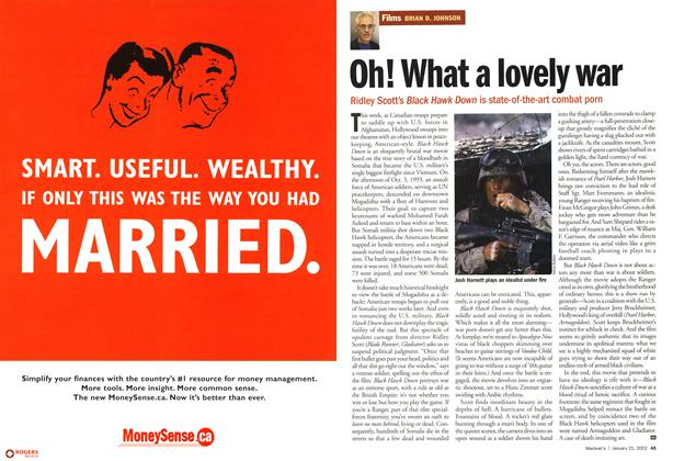 Article Preview: Oh! What a lovely war, January 2002 | Maclean's