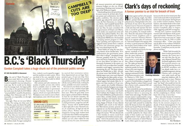 Article Preview: B.C.'s 'Black Thursday', January 2002 | Maclean's
