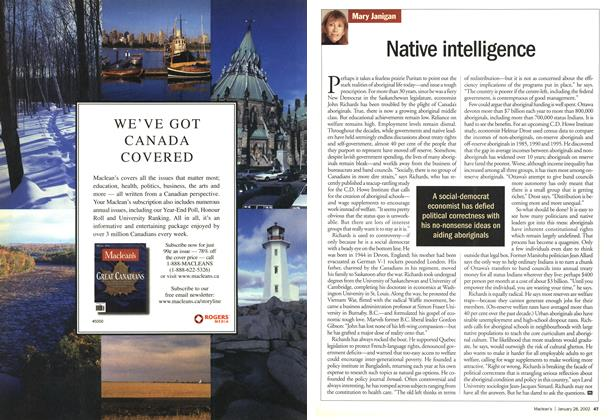 Article Preview: Native intelligence, January 2002 | Maclean's