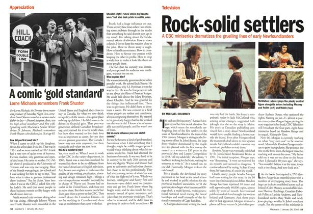 Article Preview: Rock-solid settlers, January 2002 | Maclean's