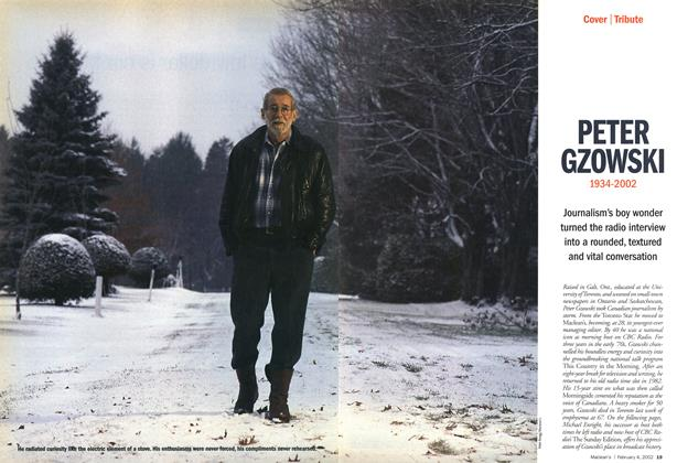 Article Preview: PETER GZOWSKI 1934-2002, February 2002 | Maclean's