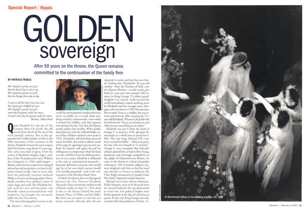 Article Preview: GOLDEN sovereign, February 2002 | Maclean's