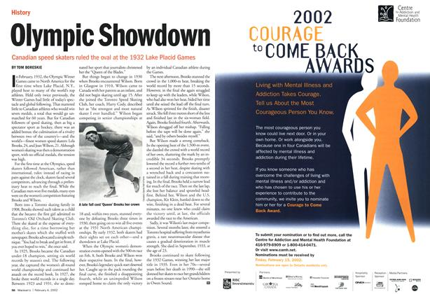 Article Preview: Olympic Showdown, February 2002 | Maclean's