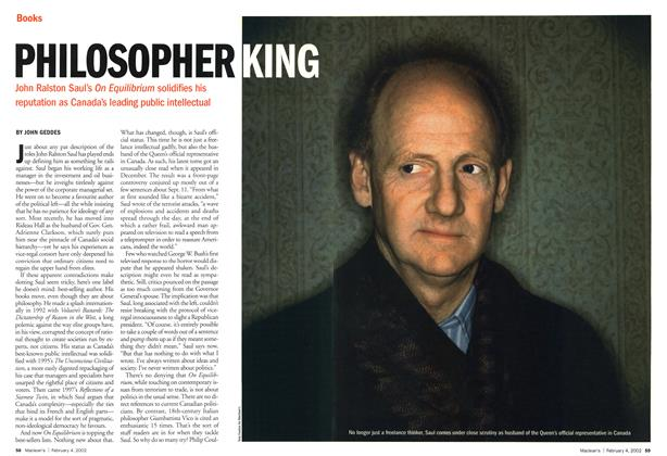 Article Preview: PHILOSOPHER KING, February 2002 | Maclean's