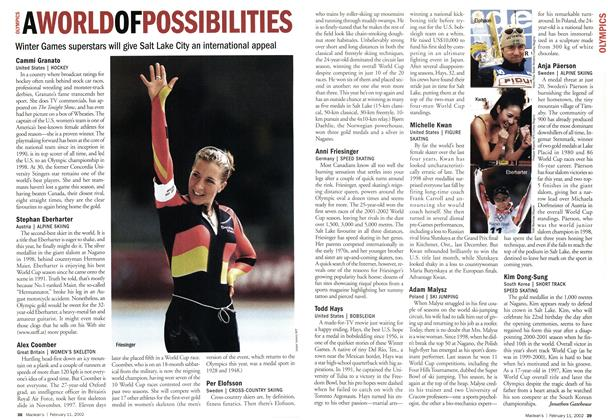 Article Preview: A WORLD OF POSSIBILITIES, February 2002 | Maclean's