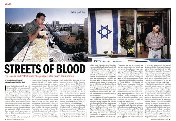 Article Preview: STREETS OF BLOOD, February 2002 | Maclean's