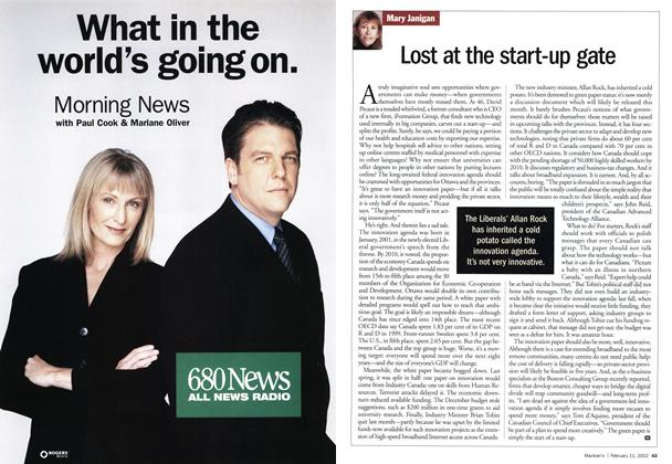 Article Preview: Lost at the start-up gate, February 2002 | Maclean's