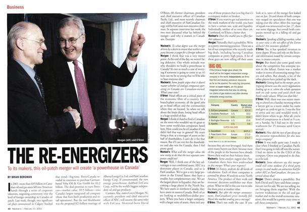 Article Preview: THE RE-ENERGIZERS, February 2002 | Maclean's