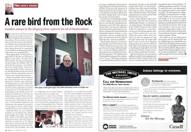 Article Preview: A rare bird from the Rock, February 2002 | Maclean's