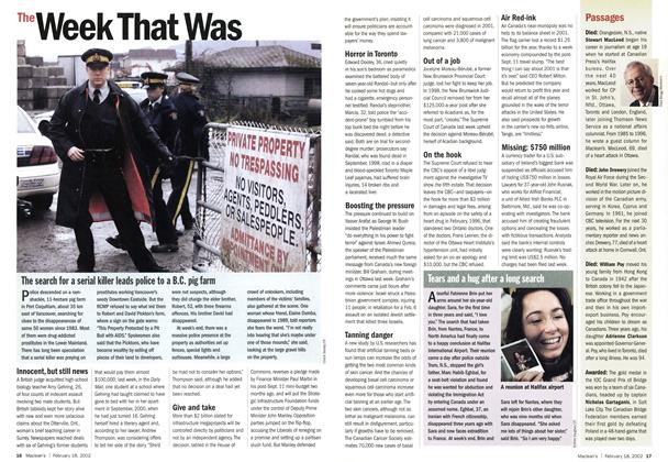 Article Preview: The Week That Was, February 2002 | Maclean's