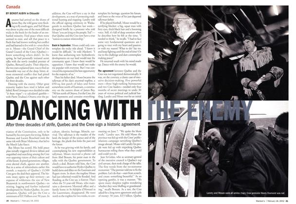 Article Preview: DANCING WITH THE ENEMY, February 2002 | Maclean's
