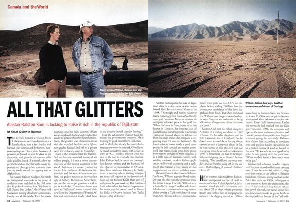Article Preview: ALL THAT GLITTERS, February 2002 | Maclean's