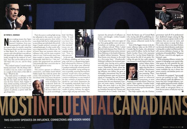 Article Preview: MOST INFLUENTIAL CANADIANS, February 2002 | Maclean's