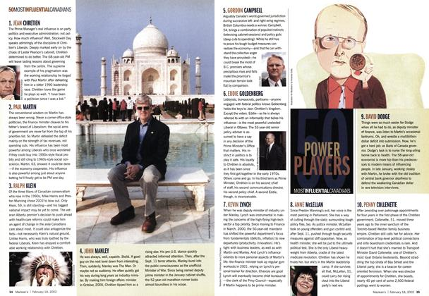 Article Preview: 50 MOST INFLUENTIAL CANADIANS, February 2002 | Maclean's